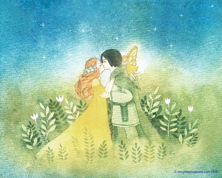 An Irish legend, The Fairy Bride, in Storytime Issue 1. Magical art by Sarah Kronborg (http://kronborgart.tumblr.com) ~ STORYTIMEMAGAZINE.COM