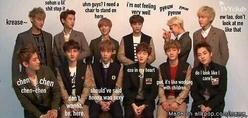 EXO band members real thoughts!!!