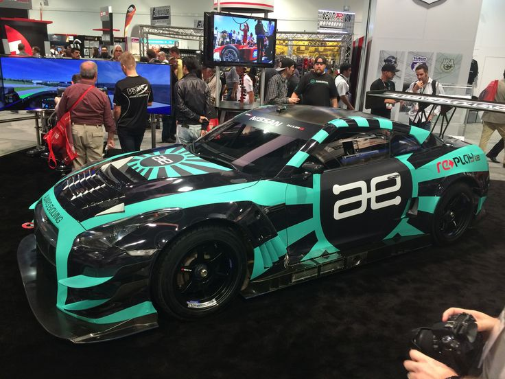 Geckowraps Las Vegas installs this one of a kind SEMA GTR race car for Paul Walkers race team Always Evolving, AE Racing and REPLAY. The Teal was Printed on Avery Supercast and laminated in matte. The base, was printed on Avery Supercast and Laminated in gloss.