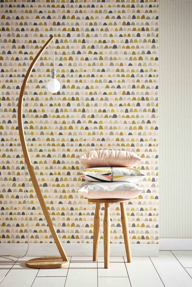 Scandi inspired loose stripe effect wallpaper design from the new collection by Scion.