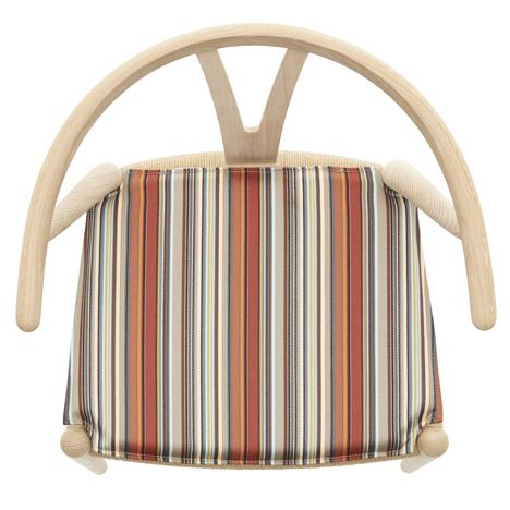 Paul Smith upholsters classic furniture designs by Hans J. Wegner in his signature stripes