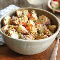 Bacon & Jalapeño Potato Salad with our scrumptious Bacon Jam #TexFest