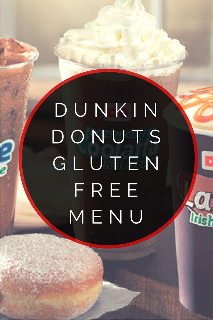 Dunkin Donuts Gluten Free Menu #glutenfree