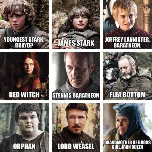 """The Names Of """"Game Of Thrones"""" Characters According To Someone's Dad"""