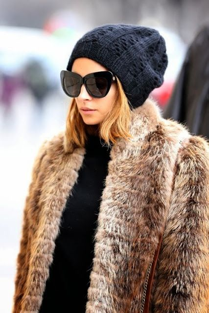 fur coats and vest for fall fashion nicole richie
