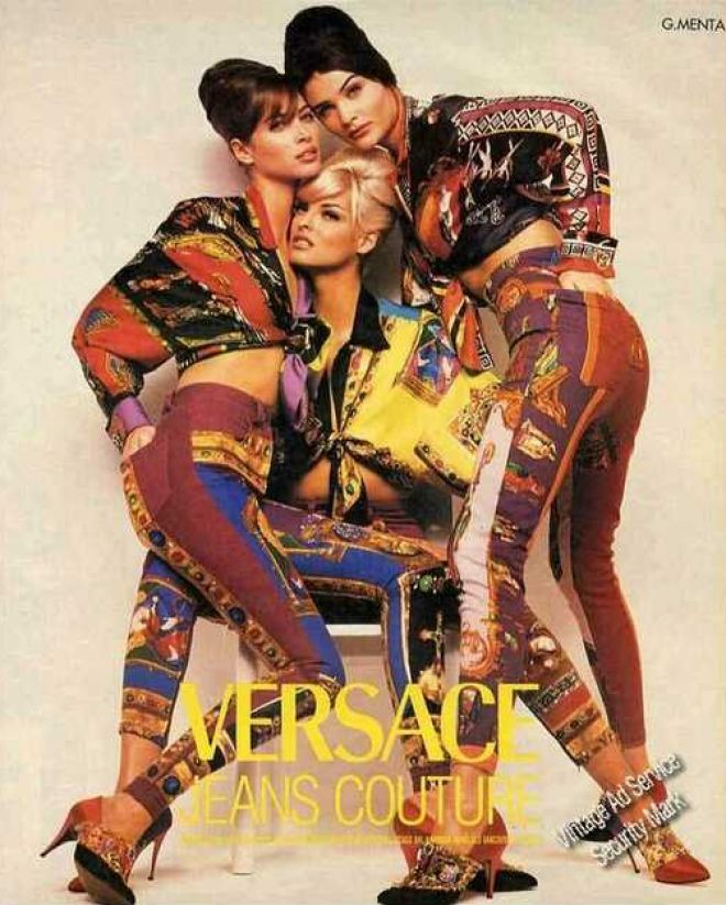 Versace Ad - 3 of the greats....Linda, Helena & Christy