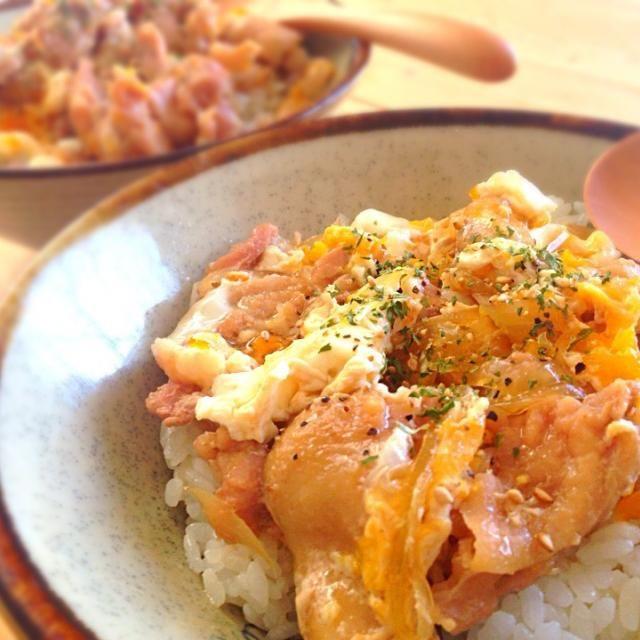今日は休みだからまた昼メシ担当♫ - 75件のもぐもぐ - 今日の昼メシ♫「親子丼」 by newmind