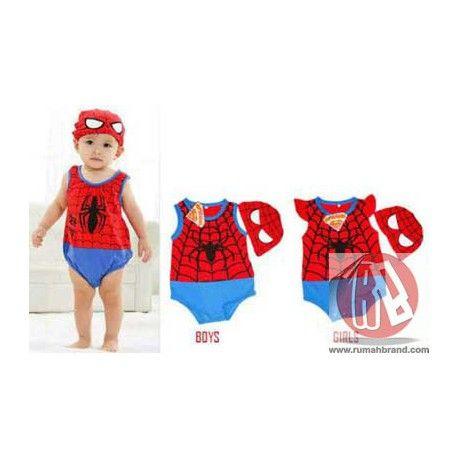 Baby Spiderman (KC-10) @Rp. 125.000,-   http://rumahbrand.com/kostum-anak/1419-baby-spiderman.html