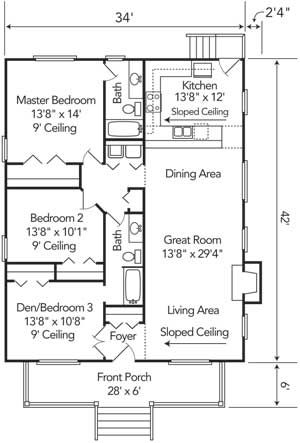 Bungalow i would rotate the tub and close it off to the for Bungalow house floor plan philippines
