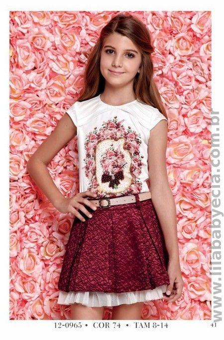 Conjunto BLUSA Infantil Com SAIA Diforini Infanto Juvenil 120965