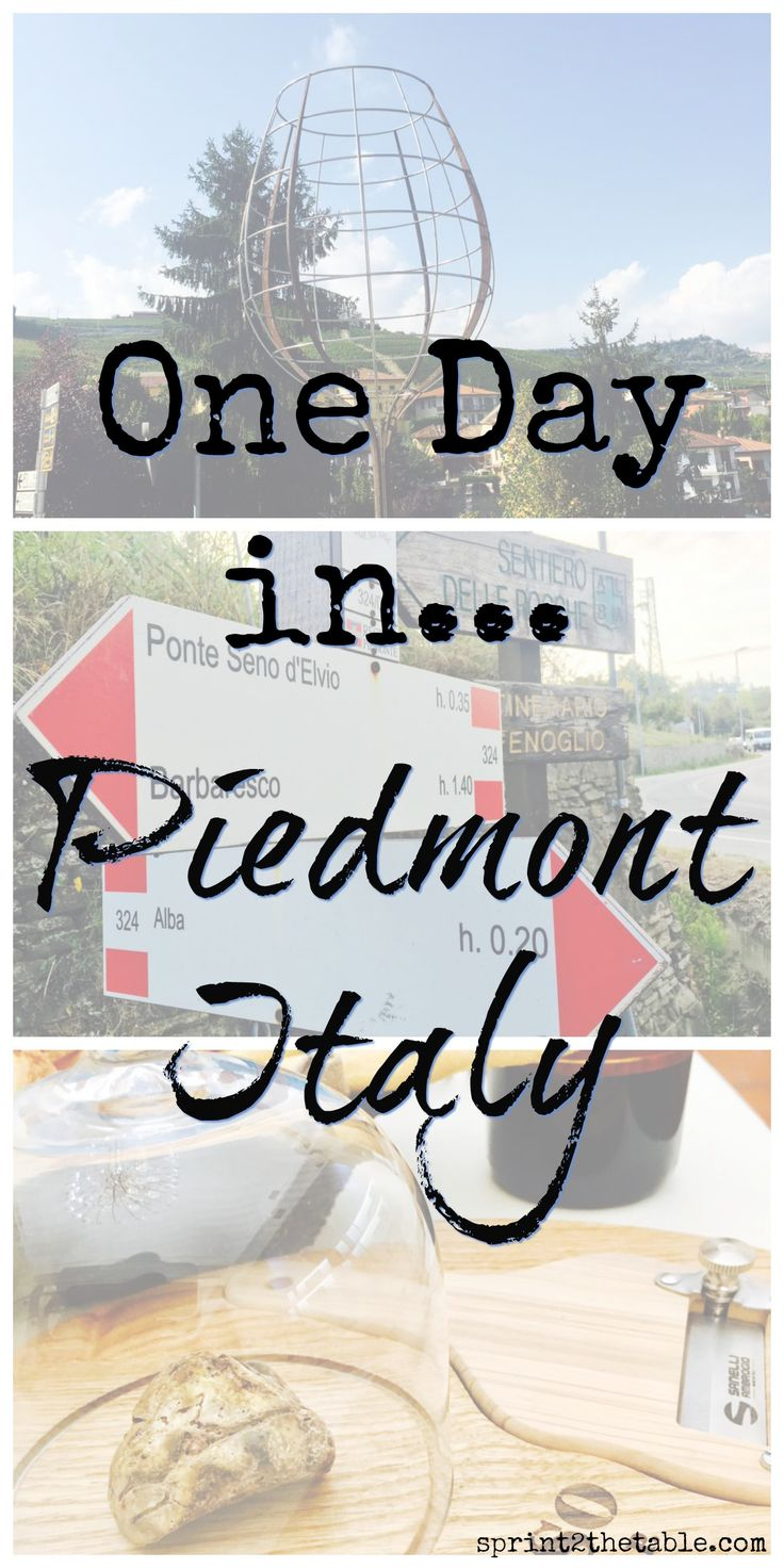 One Day in Piedmont Italy - From wine to truffles, here's how to spend the perfect day in Piedmont, Italy!