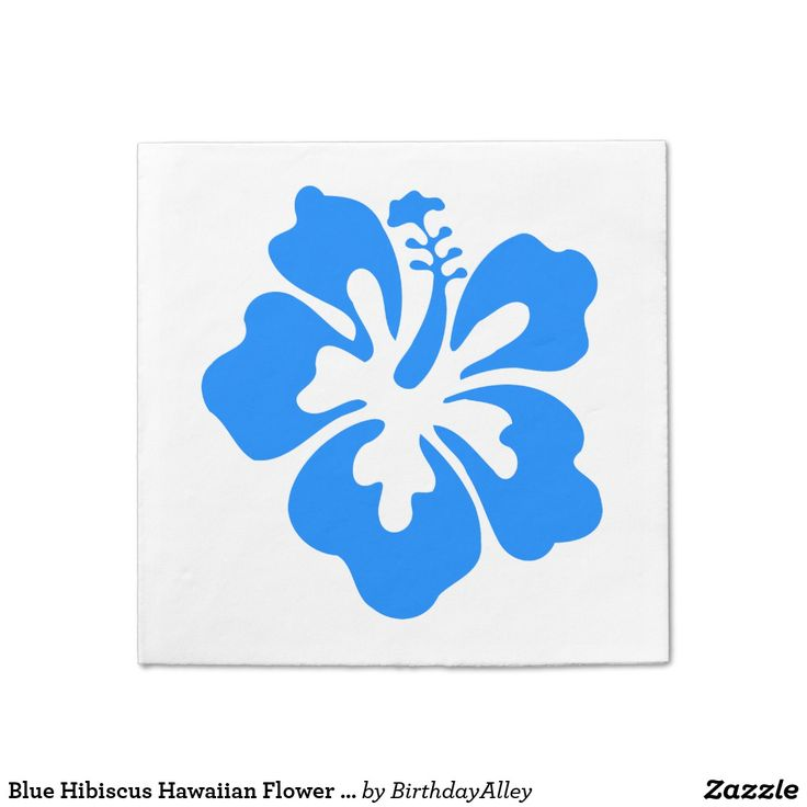 Blue Hibiscus Hawaiian Flower Luau Birthday