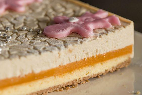 Carré abricot spéculoos réalisé dans le Carré Flexipat® Guy Demarle et la toile décor labyrinthe ! C'est super chouette !