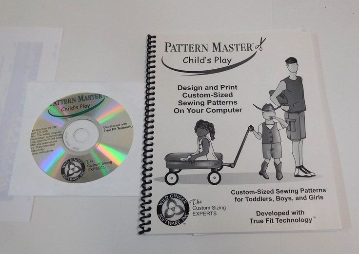 WILD GINGER SOFTWARE PatternMaster CHILD'S PLAY PATTERNS TODDLERS BOYS & GIRLS #WILDGINGER