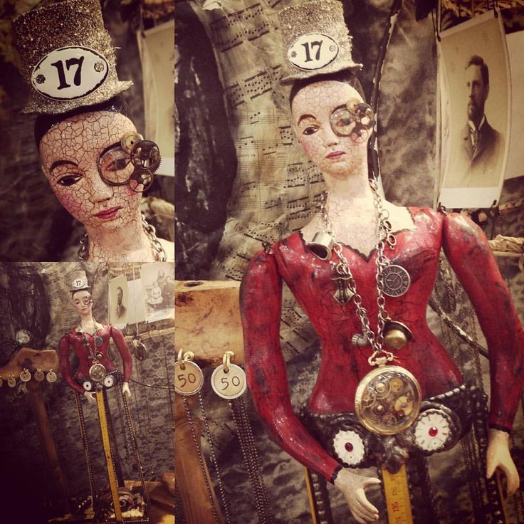 A Day In The Life Of A Jewelry Muse — The steampunk version of the santos doll for the...