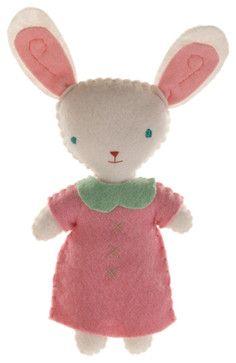 Stuffed Companion - Bunny, Girl - contemporary - kids toys - Design Public