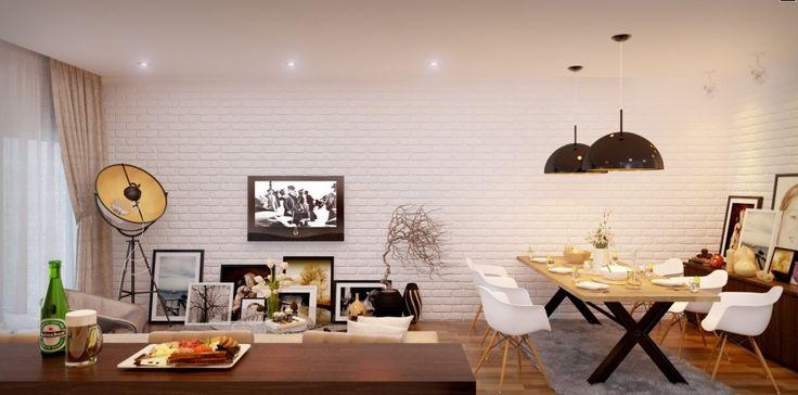 Modern Dining Room : Awesome Studio Loft Design Ideas   General, Kitchen Diner