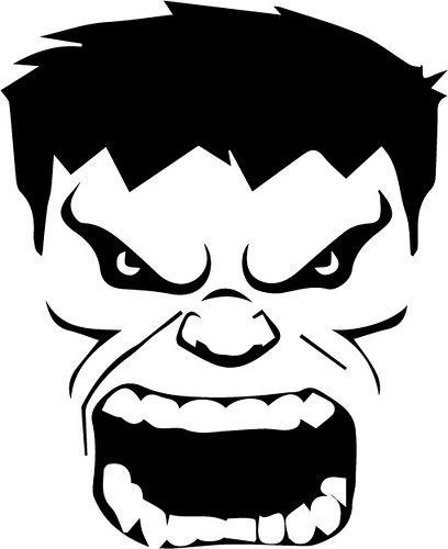 Hulk Face Cupcakes