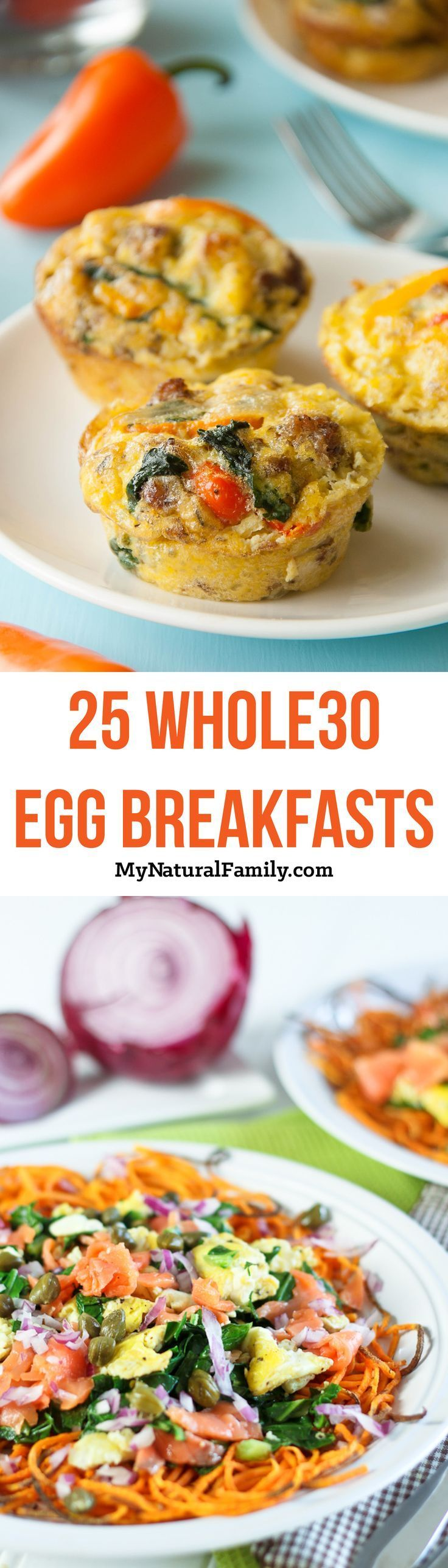 I'm in love with the selection of these Whole30 breakfast recipes with eggs because I'm so sick of plain eggs and these all have images and a link to get the recipe so i can find some new recipes I'm not sick of.