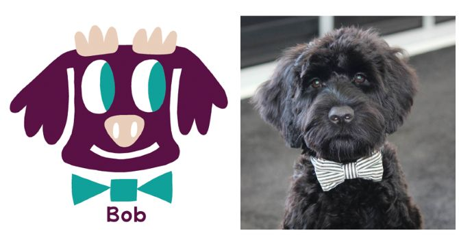 Bob Obama is a Portuguese Water Dog. Illustrated by New Zealand Artist Beck Wheeler.