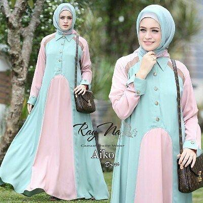 Aiko dress by Rayna ( tanpa jilbab) cantik dengan perpaduan warna  Bahan full crepe premium Tidak transparan Tanpa furing LD 104 cm  PB 140 cm  Variasi kancing Kancing depan hidup (busui)  Retail: 265.000 Reseller 245.000 Est. Ready 10 jan  Dp 50% = Booking  Line @kni7746k  Wa 62896 7813 6777  #pin #aikodressbyrayna #gamisbasicbranded #gamisbasicmurah #gamishijab #gamishijaber #hijaboftheday #ottdhijabbranded #otthijab