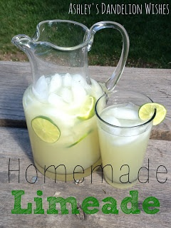 Ashley's Dandelion Wishes: Homemade Limeade