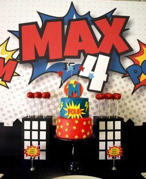 Super Hero Birthday Party Ideas   Photo 1 of 22 #birthdayparty #kids #boys #spiderman #superman