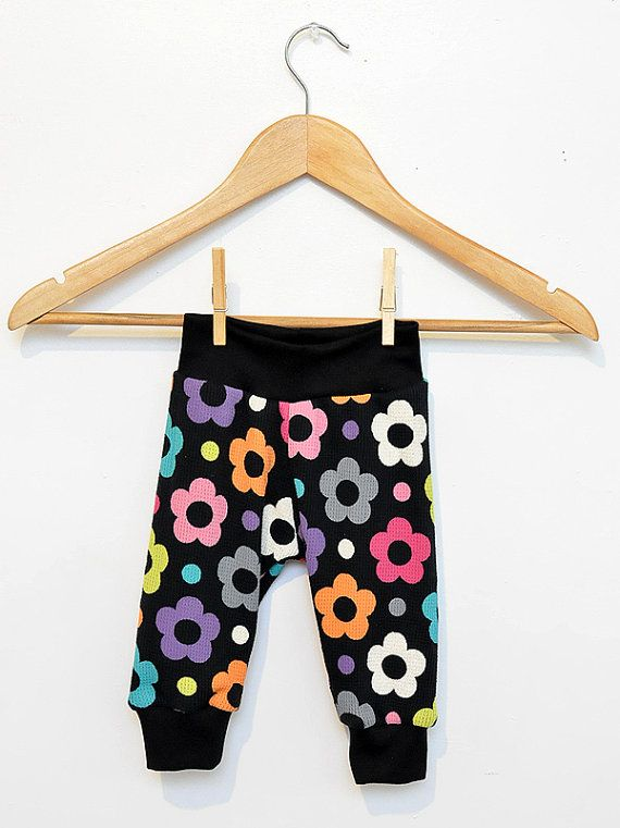 COLORFUL FLOWER  Cuff Pants for Infant and Toddler by SunnuBunnu, $10.00