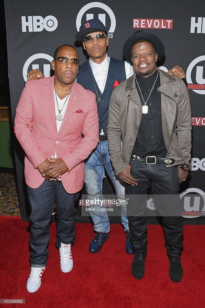 Musicians Michael Bivins, Ronnie DeVoe, and Ricky Bell of the group Bell Biv DeVoe attend the 20th Annual Urbanworld Film Festival - 'The New Edition Story' Screening at AMC Empire 25 theater on September 24, 2016 in New York City.