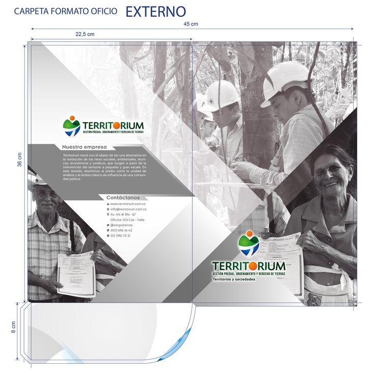 Diseño de carpeta empresarial para Territorium #design #graphicdesign