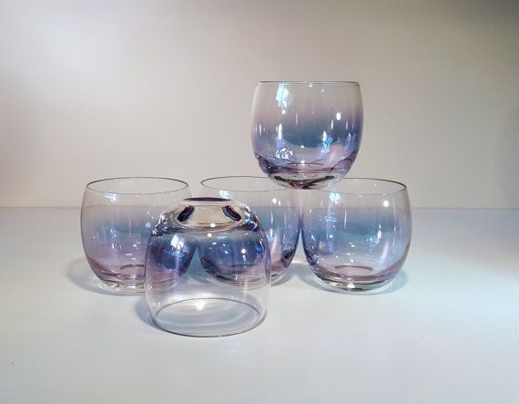 Vintage Roly Poly Gem Tone Federal Beverage Glasses by RetroEnvy21