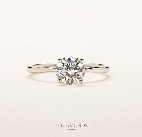 Simply timeless - our 'Delicacy' classic engagement ring. #engagementrings #77Diamonds #diamonds. Perfect.