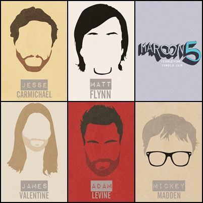 adam levine, hairstyles, james valentine, jesse carmichael, maroon 5, matt flynn, mickey madden