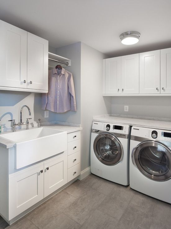Incredible Pictures Of Laundromats With Colored Washing Machines: Cozy Pictures Of Laundromats Using White Sink And Silver Washing Machines ~ steffsays.com Contemporary Home Design Inspiration