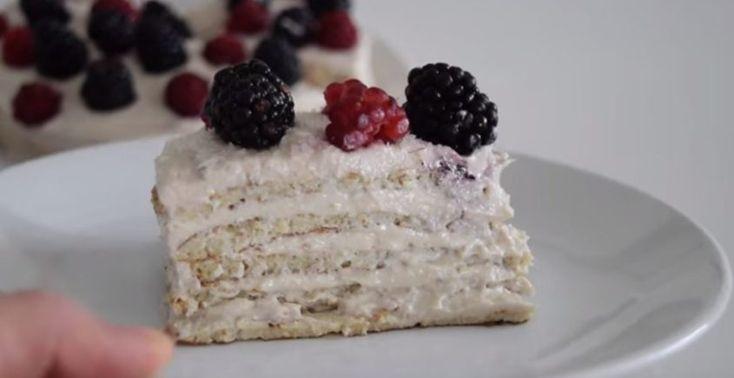 Nepečená tvarohová torta - Receptik.sk