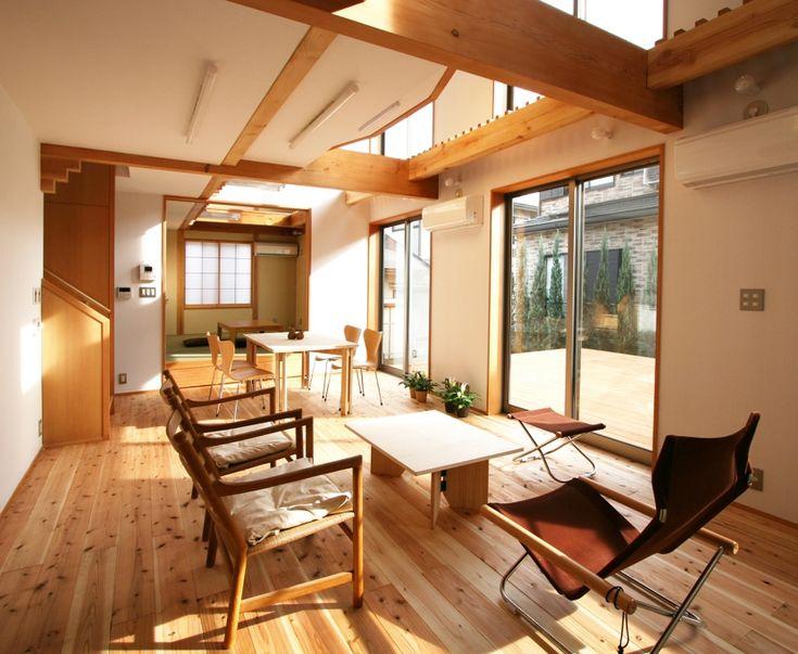 吹抜による明るく開放的なリビングダイニング+和室(南側全て吹抜の家) - その他事例 SUVACO(スバコ)