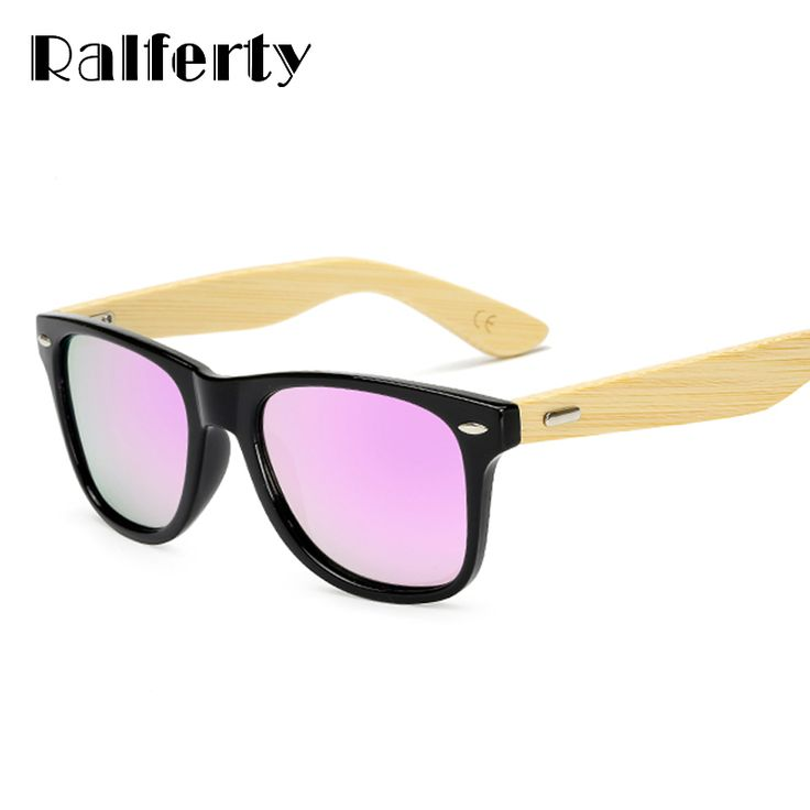 Ralferty Quality Bamboo Sunglasses Polarized Women Men Mirrored Sunglass Male Sun Glasses Driver Shades Real Wooden Eyewear #Affiliate