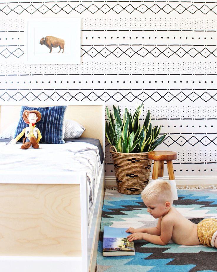Boho toddler boy room, oeuf sparrow -- @laurenpeelman