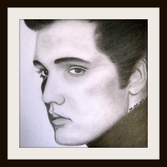 FOR SALE - $25.00.  Elvis Presley - Graphite on A3 paper. Prints only available - Not Framed