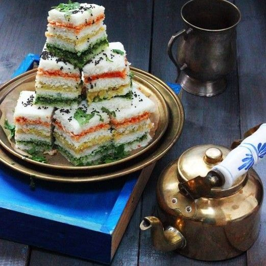 Three Layered Sandwich Dhokla Recipe - Learn how to make Three Layered Sandwich Dhokla Step by Step, Prep Time, Cook Time. Find all ingredients and method to cook Three Layered Sandwich Dhokla with reviews.Three Layered Sandwich Dhokla Recipe by Jagruti D