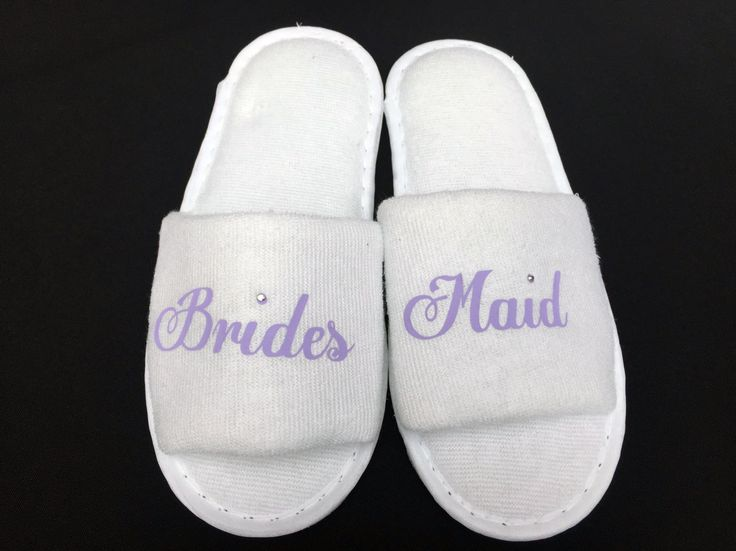 flower girl slippers bridesmaid slippers wedding slippers spa slipper flower girl shoes open toe slippers white slippers personalised feet by personaliseddiamante on Etsy