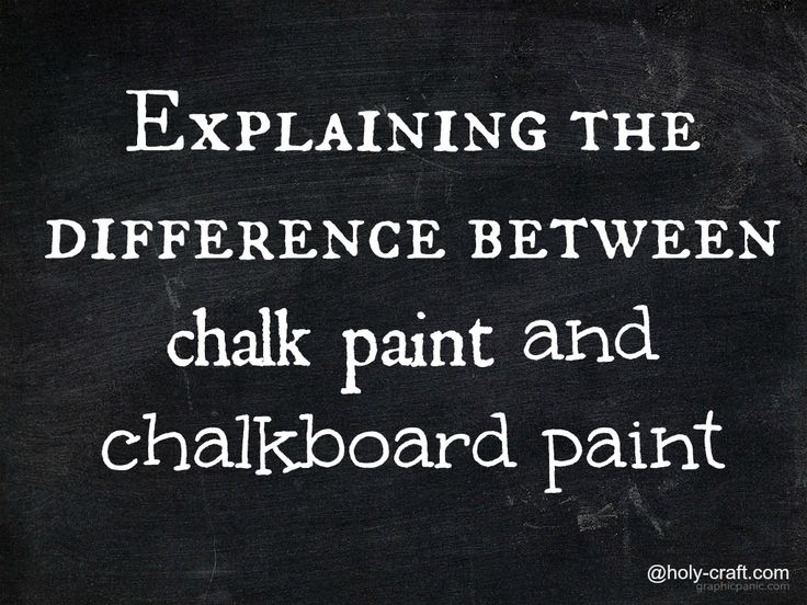 Difference Between Chalk And Chalkboard Paint