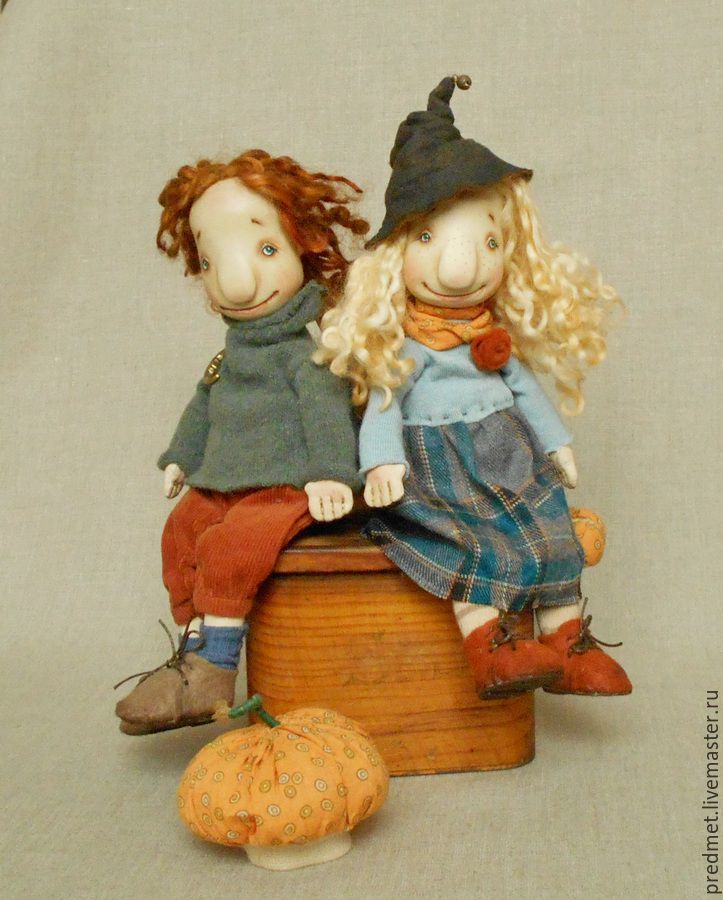 Trick- or- treat - Хэллоуин, тыква, кукла-тыква, кукла с тыквой, ведьмочка
