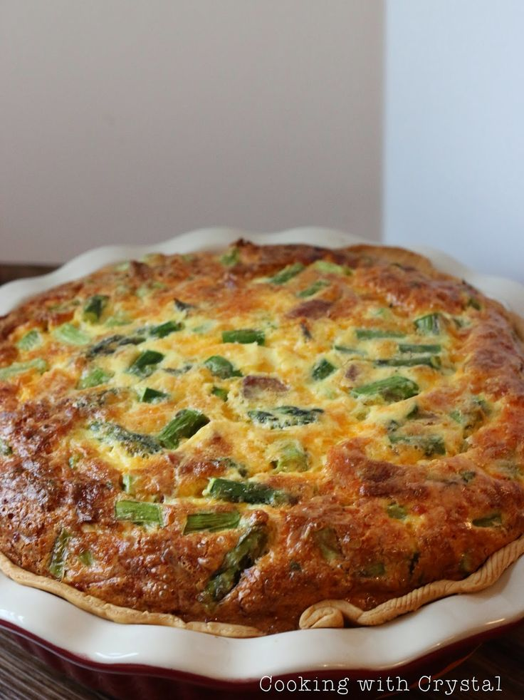Cowboy Quiche with bacon and asparagus...always a huge hit!