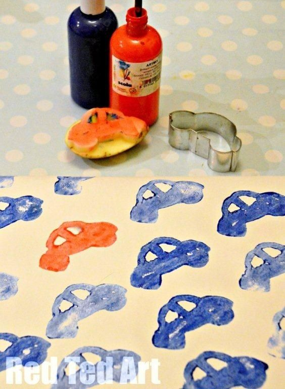 cookie cutters: make potato stamps #diy
