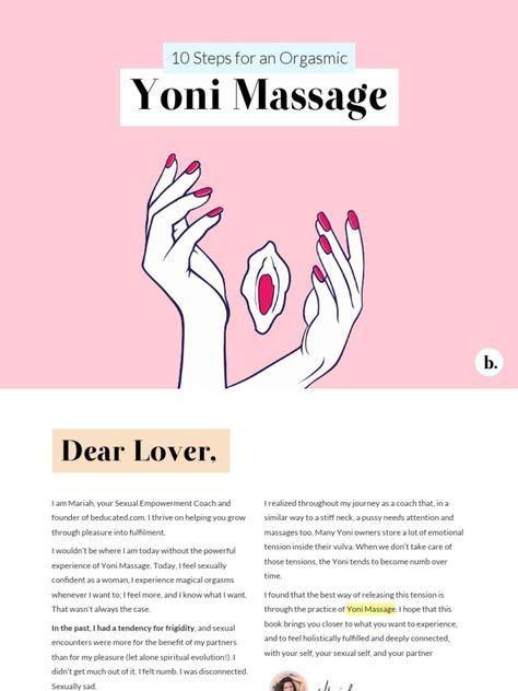 Im Reading 10 Secrets To An Orgasmic Yoni Massage Mariah Freya Beducated On Scribd Yoni Massage Massage Self Massage Massage Therapy