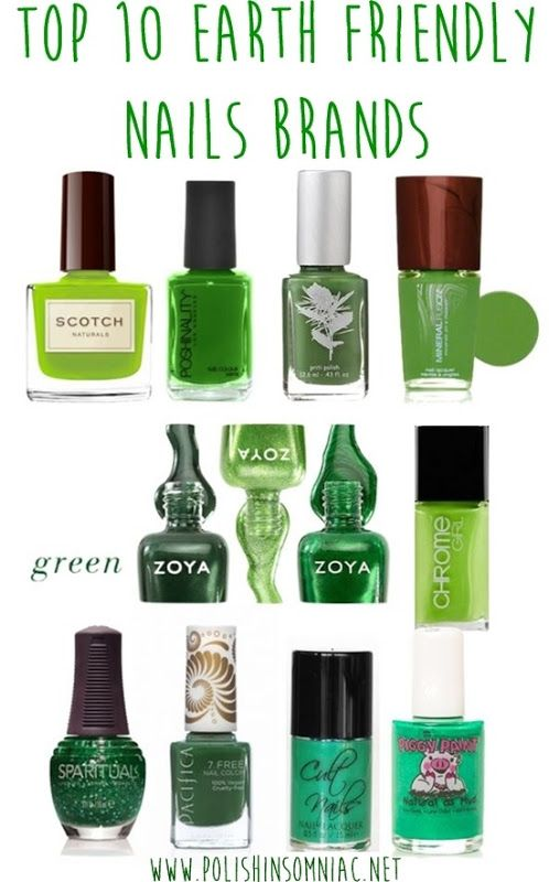 Top Ten Earth Friendly Nail Brands for Earth Day!