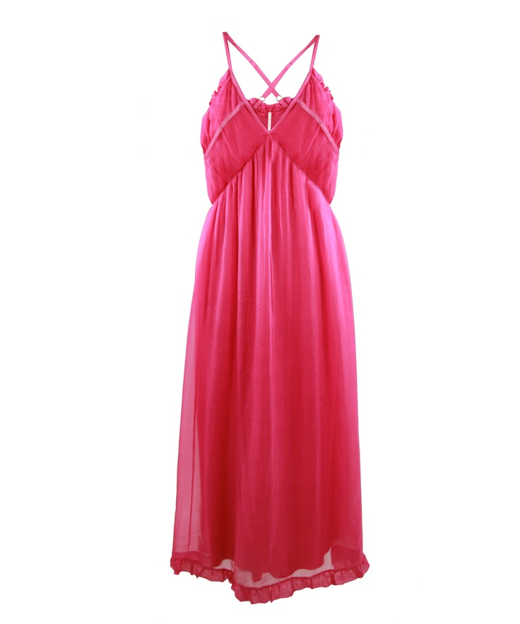 # Long Soft dress with cross back