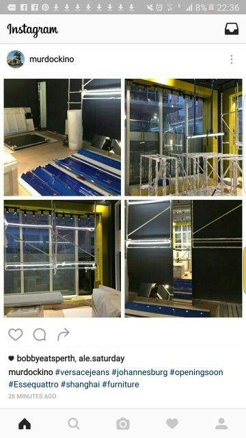 #Versacejeans #Johannesburg #openingsoon #Essequattro #Shanghai #furniture