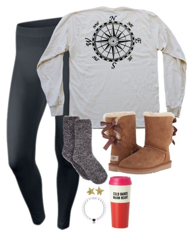 Ive been wearing my uggs around my house for the past week by preppy-classy ❤ liked on Polyvore featuring NIKE, Charter Club, UGG Australia, Kate Spade and Tiffany Co.